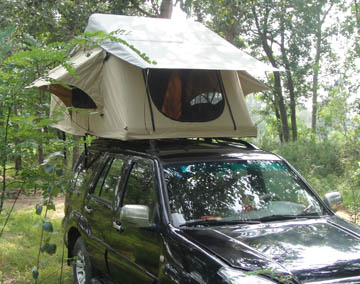 HC-CL Roof Top Tent ... & 3-4 Man Family Camping Ultralight Aluminium Pole Roof Top Tent